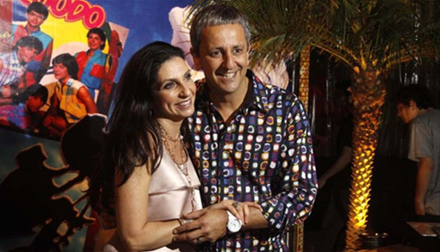 A dermatologista Adriana Awada, anviersariante da noite, ao lado do marido, o oftalmologista Fernando Tarcha