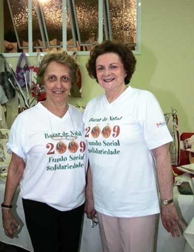 Lourdes Maquesin e Neuza Lacava